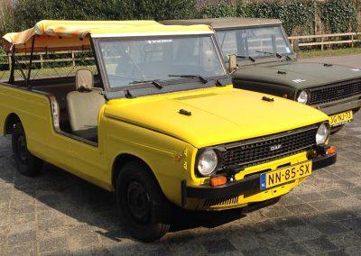Gele auto van Solex Drenthe