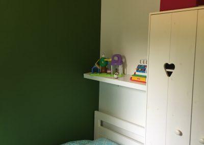 Vakantiehuis Drenthe | Slaapkamer met eenpersoonsbed 2